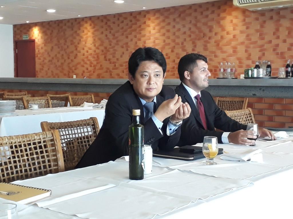 Conselheiro da Embaixada da Coreia do Sul, Sang-woo Lim apresentou os Jogos Olímpicos de Inverno em Pyeongchang a jornalistas em Brasília - Foto: Rener Lopes/Agência EB