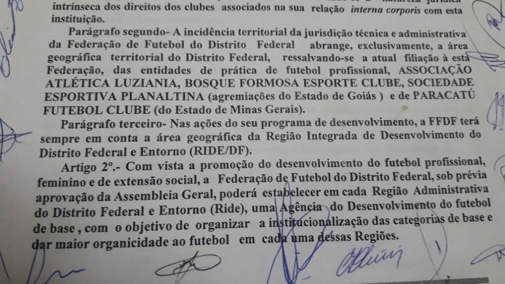 Estatuto da FFDF inviabilizaria mando de jogos do Samambaia em Urucuia/MG - Foto: Reprodução